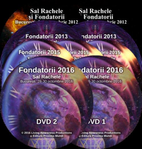 """Pachet seturi DVD """"Fondatorii la București"""" 2012, 2013, 2015 și 2016"""
