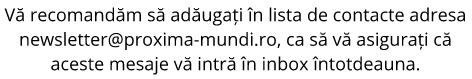 subsol newsletter Editura Proxima Mundi